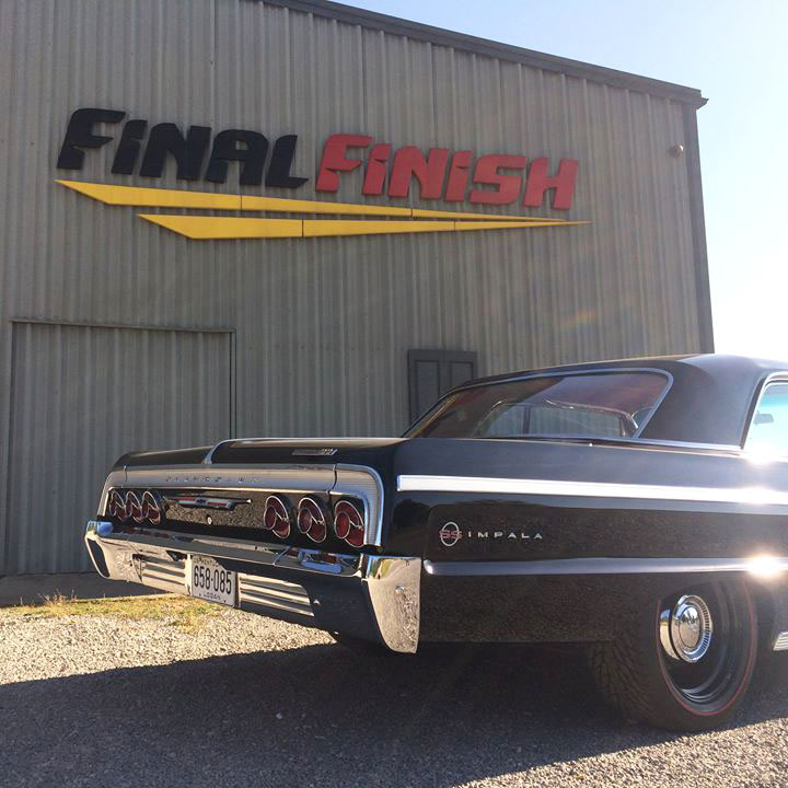 Black Chevrolet Impala rear bumper