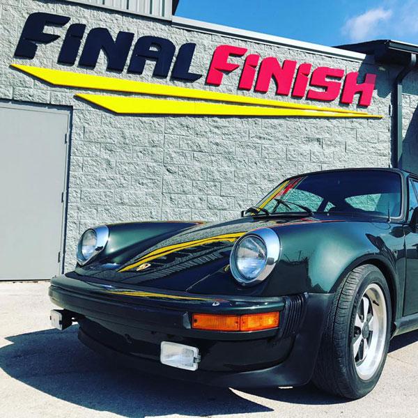 Vintage Dark Green Porsche